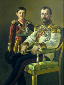 0A Nikolaj II a carevic autor S Morozov