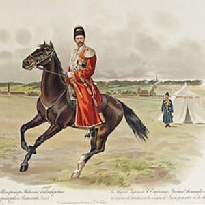 Изображение Царя Николая 2 в форме Конвоя