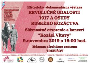 2019-11-09 vystava r1917 a osudy kozactva Trebisov