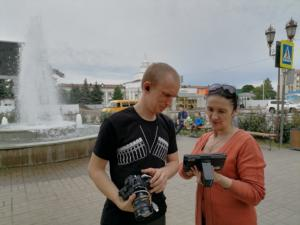 7-рабочий процесс съемок фильма на вокзале в Минводах